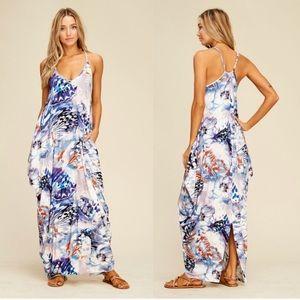Dresses & Skirts - Blue • Printed Maxi Dresses